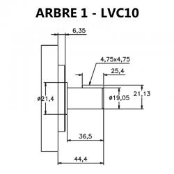 Arbre pour pompes à palettes V10, LVC10.