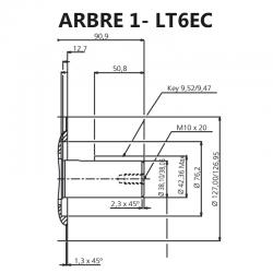 Arbre pour pompes à palettes T6EC.