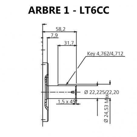 Arbre pour pompes à palettes T6CC.