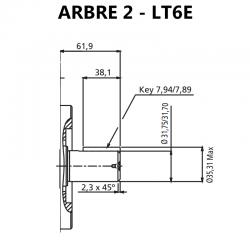 Arbre pour pompes à palettes T6E.